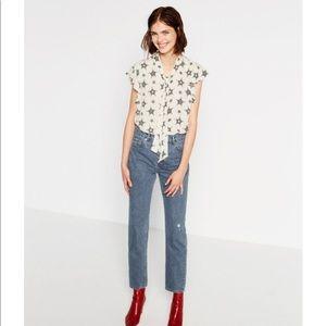 Zara Tops - Zara star printed blouse